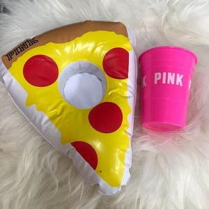 Victoria's Secret Pink pizza float or and cup